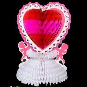Vintage Valentine Tissue Honeycomb Centrepiece